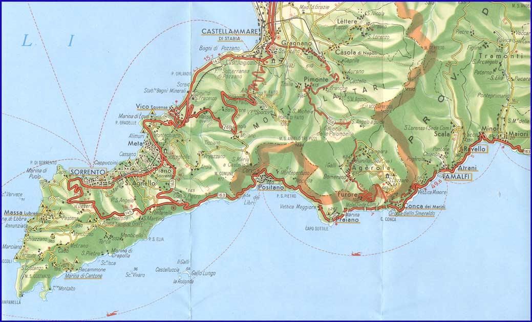 amalfi part térkép Amalfipart   Amalfi part térkép és webkamera